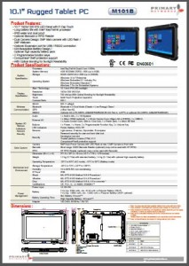 Rugged Tablet PCs - M101B (Windows)