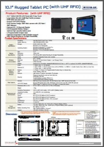 M101B-UF - Rugged Tablet PCs