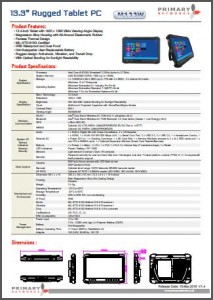 Ultra Rugged tablet-M133 Series