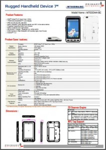Rugged Tablet PCs-M700 series - M700DM4-BC