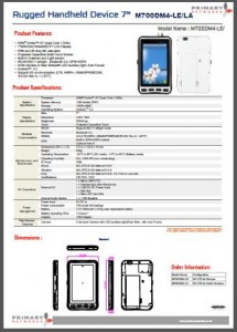 Rugged Tablet PCs-M700 series-M700DM4-LE-LA