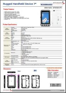 Rugged Tablet PCs-M700 series-M700DM4-NFC