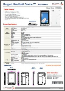 Rugged Tablet PCs-M700 series - M700DM4 (Android 4.2)