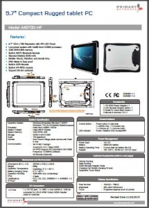 Tablet PCs Rugged Tablet PCsM970 Series