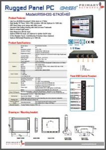 Broadwell Rugged Panel PC R15IH3S-67A3HB