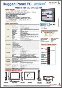 Broadwell Rugged Panel PC -R15IH3S-VMA3HB