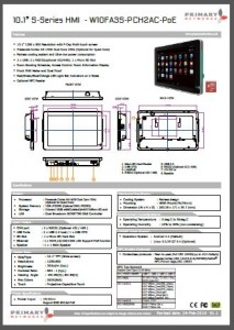 Multi-touch panel PC S – series HMI (slim design) 10.1′ S-Series HMI