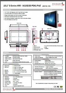 Multi-touch panel PC S – series HMI (slim design) 10.1′ S-Series HMI