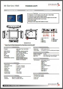 Multi-touch panel PC M-Series (Bay Trail)
