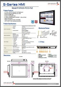 Multi-touch panel PC S – series HMI (slim design) 15' S-series HMI
