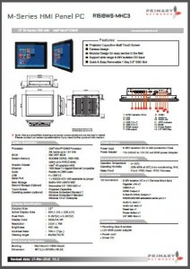 "15"" M-Series HMI Multi-touch panel PC M-Series (Bay Trail)"