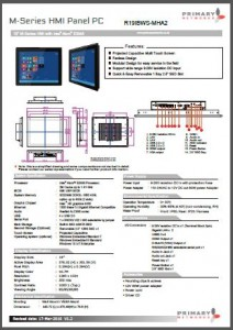 "Multi-touch panel PC M-Series (Bay Trail) 19"" M-Series HMI"