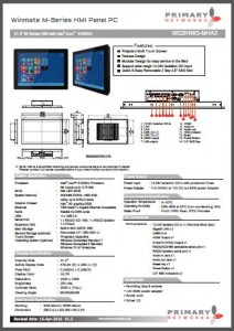 M series HMI (multifunctional design) Multi-touch panel PC M-Series (Broadwell)